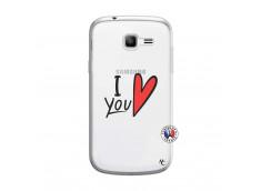 Coque Samsung Galaxy Trend Lite I Love You