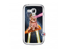 Coque Samsung Galaxy Trend Cat Pizza Translu