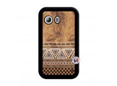 Coque Samsung Galaxy Y Aztec Deco Noir