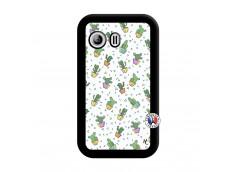 Coque Samsung Galaxy Y Le Monde Entier est un Cactus Noir