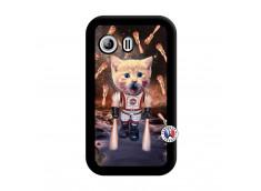 Coque Samsung Galaxy Y Cat Nasa Noir