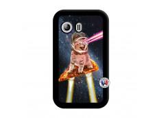 Coque Samsung Galaxy Y Cat Pizza Noir