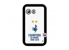 Coque Samsung Galaxy Y Champion Du Monde Noir