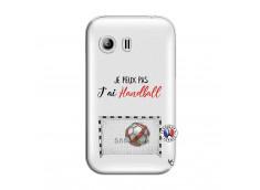 Coque Samsung Galaxy Y Je peux pas j'ai Handball