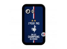 Coque Samsung Galaxy Y Je Peux Pas On Est Les Champions Du Monde Noir