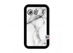 Coque Samsung Galaxy Y White Marble Noir