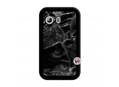 Coque Samsung Galaxy Y Black Marble Noir