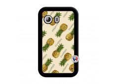 Coque Samsung Galaxy Y Sorbet Ananas Noir