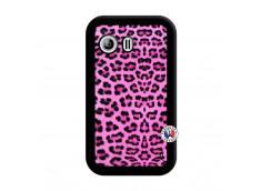 Coque Samsung Galaxy Y Pink Leopard Noir