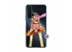 Coque Huawei Honor 20 PRO Cat Pizza Translu