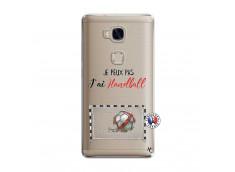 Coque Huawei Honor 5X Je peux pas j'ai Handball