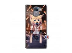 Coque Huawei Honor 7 Cat Nasa Translu