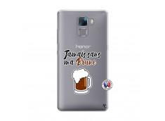 Coque Huawei Honor 7 Jamais Sans Ma Brune