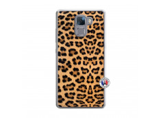 Coque Huawei Honor 7 Leopard Style Translu