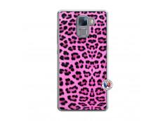 Coque Huawei Honor 7 Pink Leopard Translu