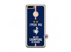 Coque Huawei Honor 7A Je Peux Pas On Est Les Champions Du Monde Translu