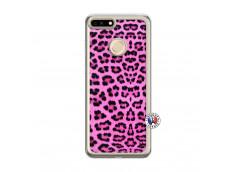 Coque Huawei Honor 7A Pink Leopard Translu