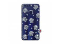 Coque Huawei Honor 8 Petits Elephants