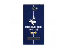 Coque Htc 8S Champions Du Monde 1998 2018 Transparente