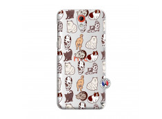 Coque HTC Desire 620 Cat Pattern
