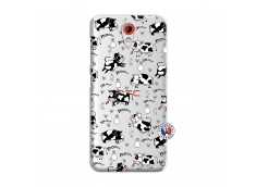 Coque HTC Desire 620 Cow Pattern