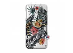 Coque HTC Desire 620 Leopard Tree