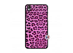 Coque HTC Desire 816 Pink Leopard Translu