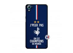 Coque HTC Desire 826 Je Peux Pas On Est Les Champions Du Monde Translu