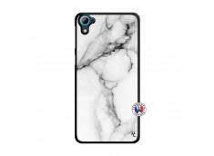 Coque HTC Desire 826 White Marble Translu