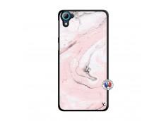 Coque HTC Desire 826 Marbre Rose Translu