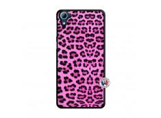 Coque HTC Desire 826 Pink Leopard Translu