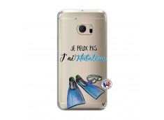 Coque HTC ONE M10 Je Peux Pas J Ai Natation