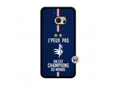 Coque HTC ONE M10 Je Peux Pas On Est Les Champions Du Monde Translu