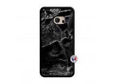 Coque HTC ONE M10 Black Marble Translu