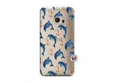 Coque HTC ONE M10 Dauphins
