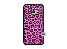 Coque HTC ONE M10 Pink Leopard Translu