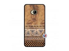 Coque HTC ONE M7 Aztec Deco Noir