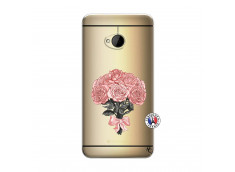 Coque HTC ONE M7 Bouquet de Roses