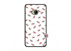 Coque HTC ONE M7 Cartoon Heart Noir