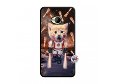 Coque HTC ONE M7 Cat Nasa Noir