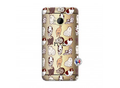 Coque HTC ONE M7 Cat Pattern