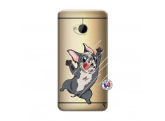 Coque HTC ONE M7 Dog Impact