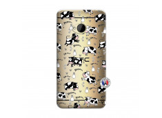 Coque HTC ONE M7 Cow Pattern