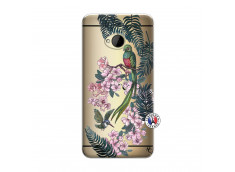Coque HTC ONE M7 Flower Birds