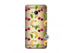 Coque HTC ONE M7 Hey Cherry, j'ai la Banane
