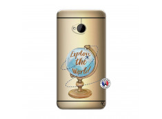 Coque HTC ONE M7 Globe Trotter