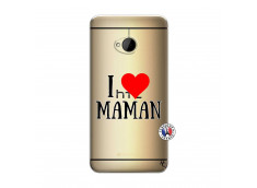 Coque HTC ONE M7 I Love Maman