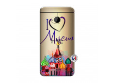 Coque HTC ONE M7 I Love Moscow