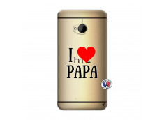 Coque HTC ONE M7 I Love Papa