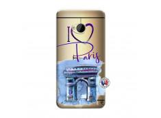 Coque HTC ONE M7 I Love Paris, i love Arc de Triomphe